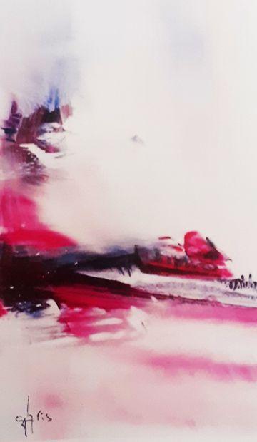 """CHRIS """"Au Cœur du Silence 23"""" Peinture à l'acrylique réalisée à la brosse et au couteau..."""