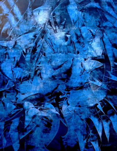 "ALLARD Michel ""Rêverie"" Acrylics medium waxes on paper marouflé on canvas 114 x 146..."
