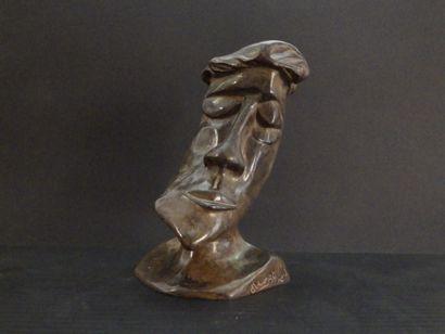 """MAUZAT Marc """"Eclin"""" Sculpture in patinated bronze H : 23 cm L : 12 cm Width : 16..."""