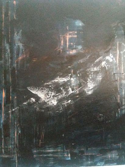 """KALKA Sabine """"Rêve""""Acrylique sur toile 100 x 100 cm signée.    Frais de transport..."""