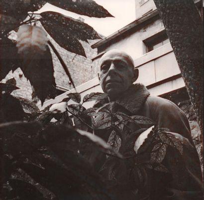 DUBUFFET Jean (Pablo VOLTA 1926-2011) Photographie unique et originale de 1960, 18...