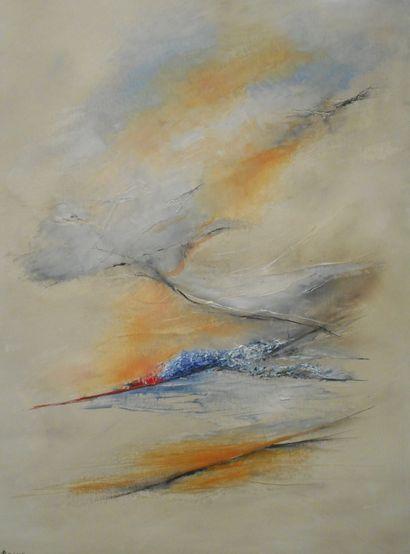 """PASRO Pascal """"Vague métamorphose"""" Huile sur toile 81 x 60 cm signée en bas a gauche...."""