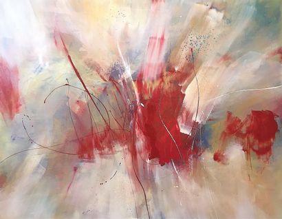 "DE MONT Milanda ""Ambiance"" Acrylic and enamel on canvas 115 x 90 cm signed.    Free..."