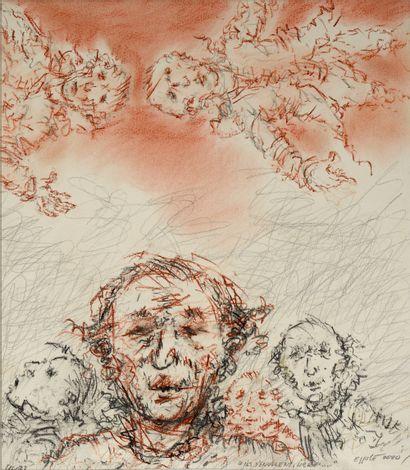 """EPPELE Gérard (né en 1929) """" Ils s'envolent, libres… """" Pastel sur papier 35 x 30..."""