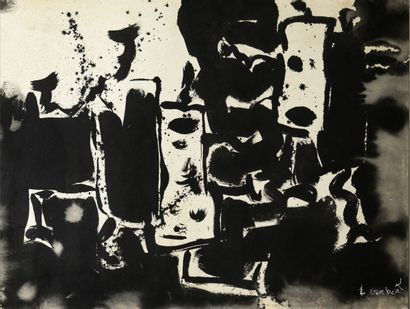 GERBERT Laurent (né en 1959) Encre de Chine 60 x 80 cm signée en bas à droite. Photos...