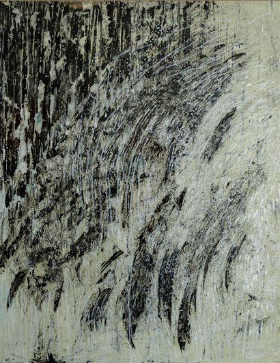 MILEWSKI Marysia (née en 1960) Technique mixte, huile et acrilyque sur papier, 65...
