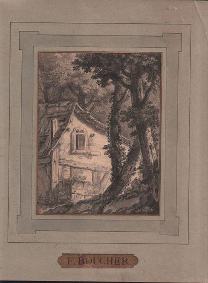 Cinq dessins XVIIIe et XIXe siècles Cinq dessins XVIIIe et XIXe siècles à la plume...