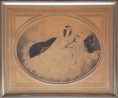 Louis ICART (1888-1950) Deux lithographies: Vieux Montmartre Eau-forte et pointe...