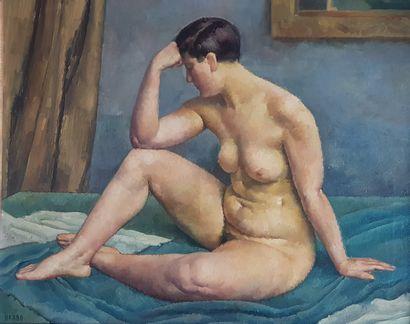 Albert BRABO (1894-1964) La Garçonne Huile sur toile c.1940, 81 x 100 cm (100 x 118...