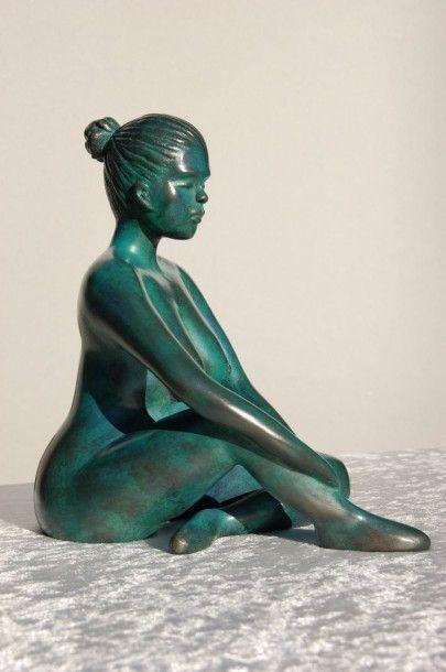 "CAPUTO Marie-Angèle ""Lisa"" - Bronze hauteur : 23cm 2/8 signé - Fondeur Barthélémy..."