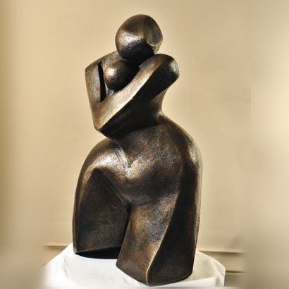 """CHIAVAZZA Christiane """"Maternelle"""" sculpture en bronze 50x28x20cm signée et numérotée..."""