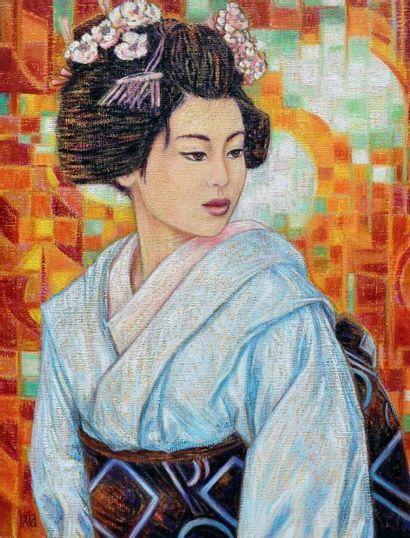 """IXIA """"Mitsuko"""" Huile sur toile signée 50x65cm - Frais de transport offert pour la..."""