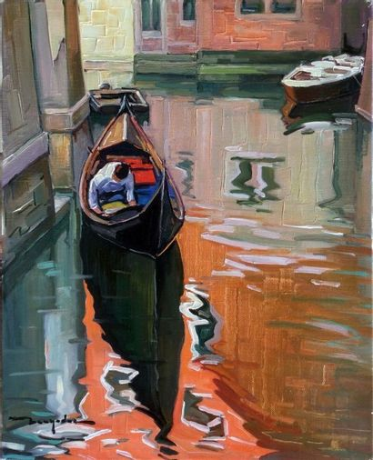 """BERNADAC Elie (1913-1999) """"Saint Paul de Vence"""" Huile sur toile 41x33cm signée -..."""
