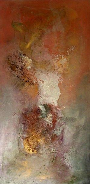 """ORUS Frédérique (1958) """"Ange"""" Huile et acrylique à base de pigments purs créées par..."""