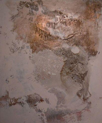 """ORUS Frédérique (1958) """" Samothrace """" Huile et acrylique à base de pigments purs..."""