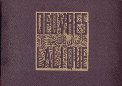 CATALOGUE DES ŒUVRES LALIQUE DE 1932