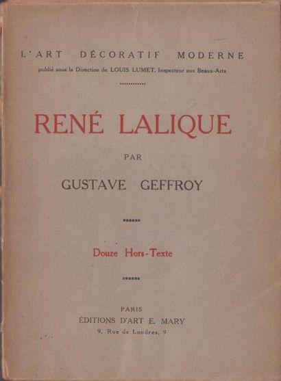 LIVRE RENÉ LALIQUE DE 1922