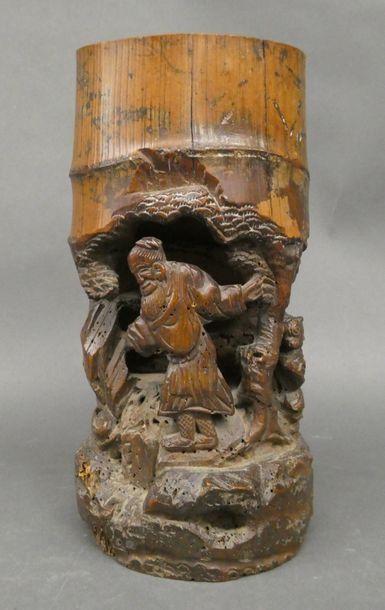 Porte pinceaux en bambou  Dim 26,5cm