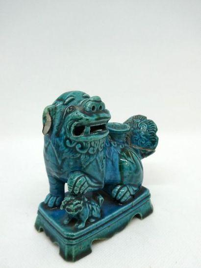 CHINE    Figurine représentant un chien de...