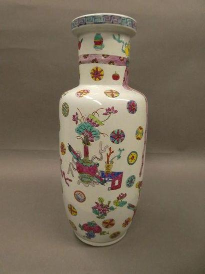 CHINE    Vase en porcelaine style Daoguang...