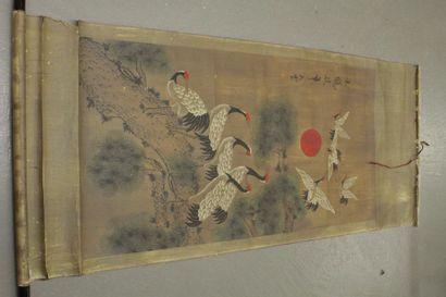 CHINE    Peinture sur rouleau
