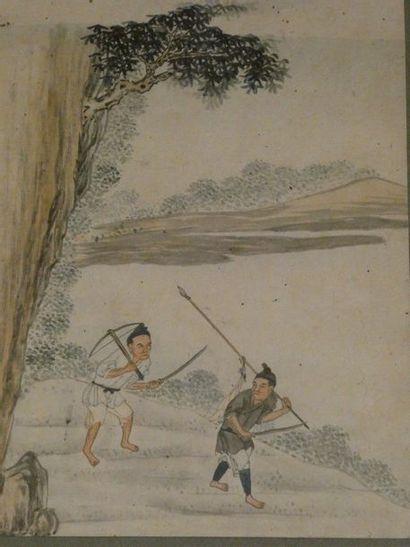 CHINE - Vers 1900    Deux pages d'album,...