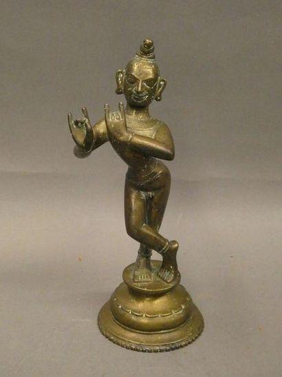 Divinité en bronze.    Travail indien.  ...