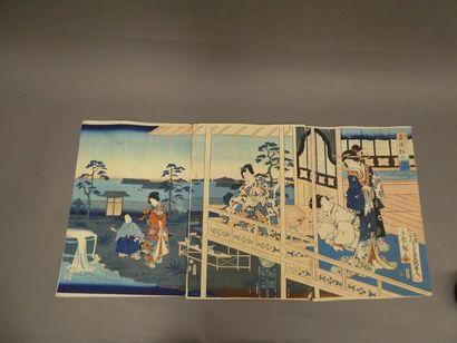 JAPON    Ensemble d'estampes composé de  ...