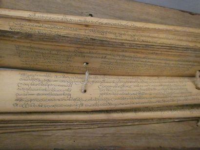 Livre de priere népalais    L. : 35 cm