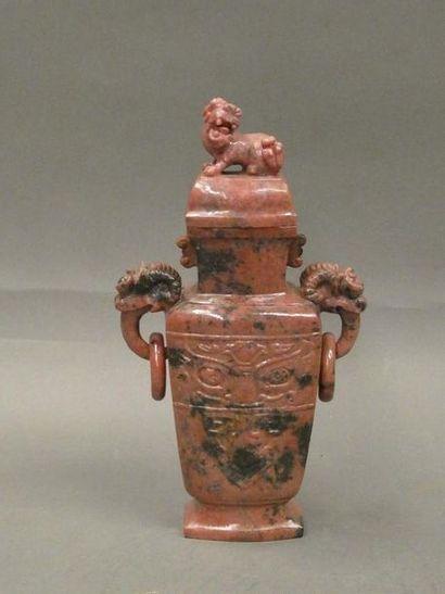 CHINE    Vase couvert de style archaïque...