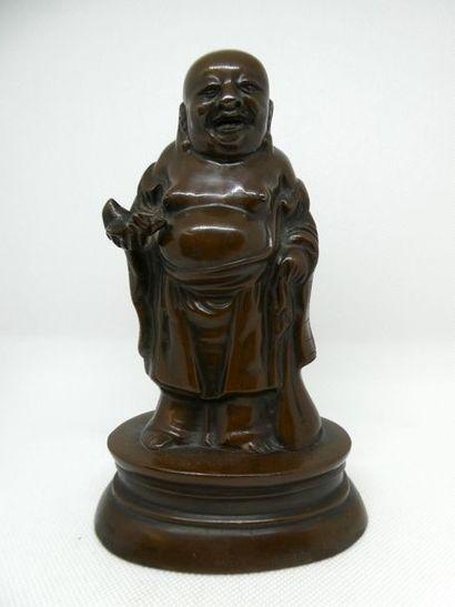 CHINE    Bronze Shoulao. Ht :19,5cm