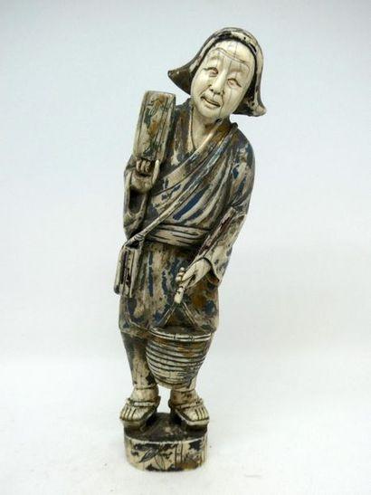 JAPON vers 1900    Sujet en ivoire figurant...