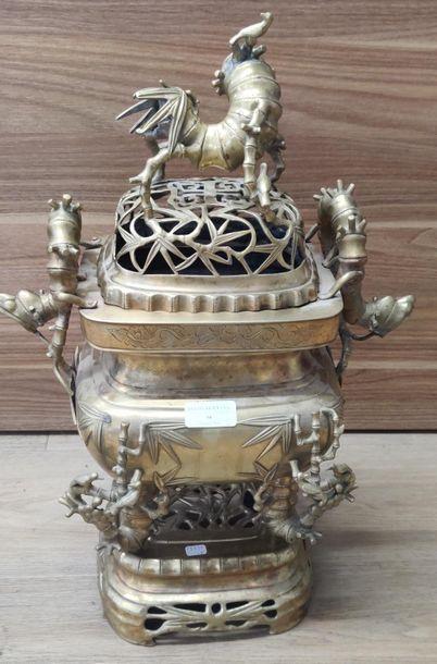 INDOCHINE - Vers 1900    Brûle-parfum en...