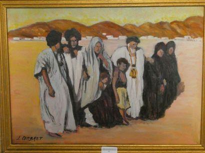 LUCIEN COMBRET(1905-2003) Scène mauritanienne...