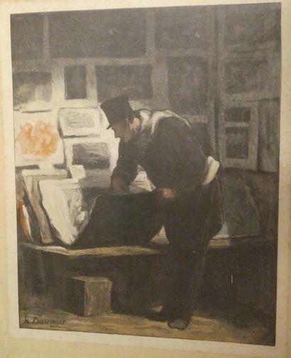 Honoré DAUMIER (1808-1879), d'après Le marchand...