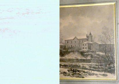 Ecole du Xxè siècleMaisons sous la neige...