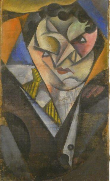 Ecole cubiste Portrait d'homme Huile sur...
