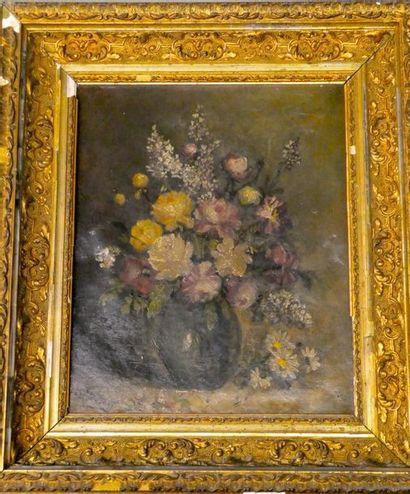 LETHENNENT Nature morte au bouquet de fleurs...