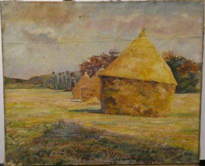 Alfred Marie LE PETIT ( 1876-1953) Meules...