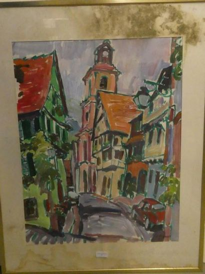 Jean prevost, né en 1934 Scène de rue en...
