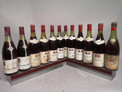 12 bouteilles MORGON Divers A VENDRE EN L'ETAT...