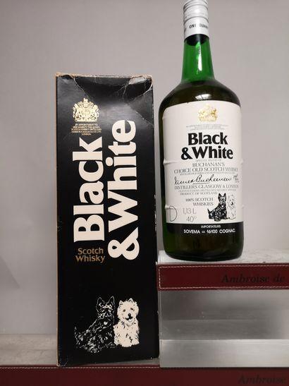 1 flacon 1.125 L. WHISKY BLACK WHITE Bouteille...