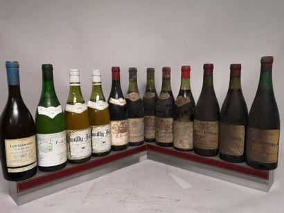 12 bouteilles VINS DIVERS France A VENDRE...