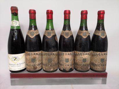 6 bouteilles ANJOU A VENDRE EN L'ETAT : 5...