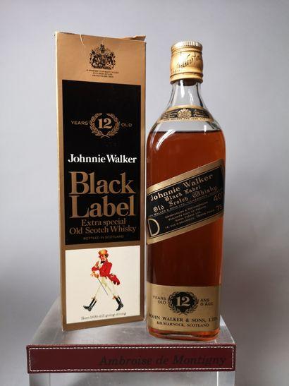 1 bouteille WHISKY JOHNNIE WALKER - BLACK...