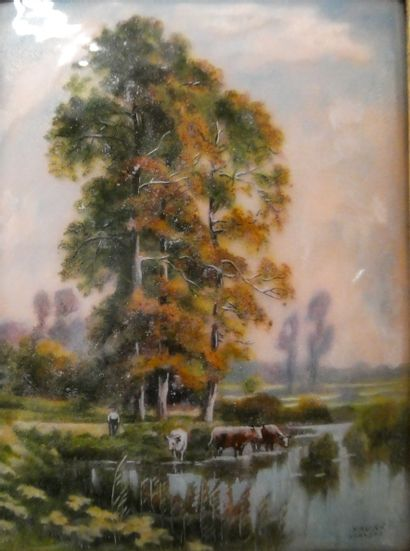 CAMILLE FAURE ( 1874-1956 ) à Limoges  Soir...