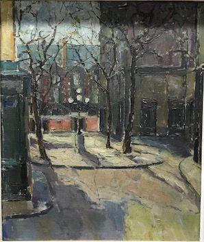 Ecole Française vers 1940  Place de paris...