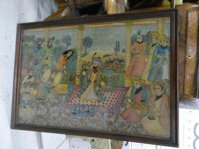 Travail indien  Scène de palais  Dim. : ...