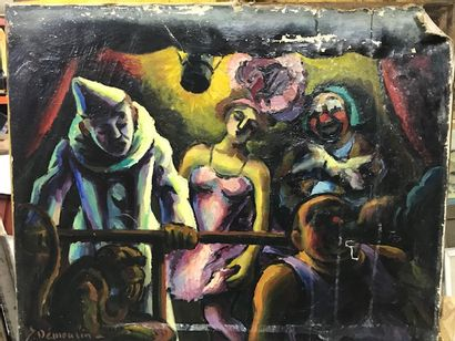 Jacques DÉMOULIN (1905-1991)  Parade foraine....