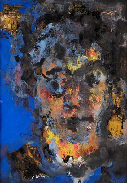 ZVI MILSHTEIN (1934 2020)  Portrait  Gouache...